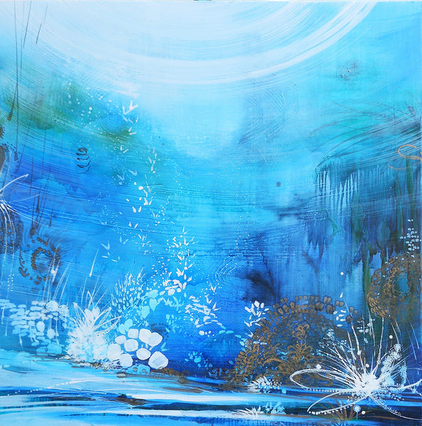 Tracey Tarling - Oceans, Mixed Media on Panel, Unframed,  - Bau-Xi Gallery