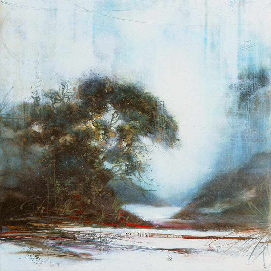 Tracey Tarling - Radiant Breath Flight #2, Mixed Media on Panel, Unframed,  - Bau-Xi Gallery