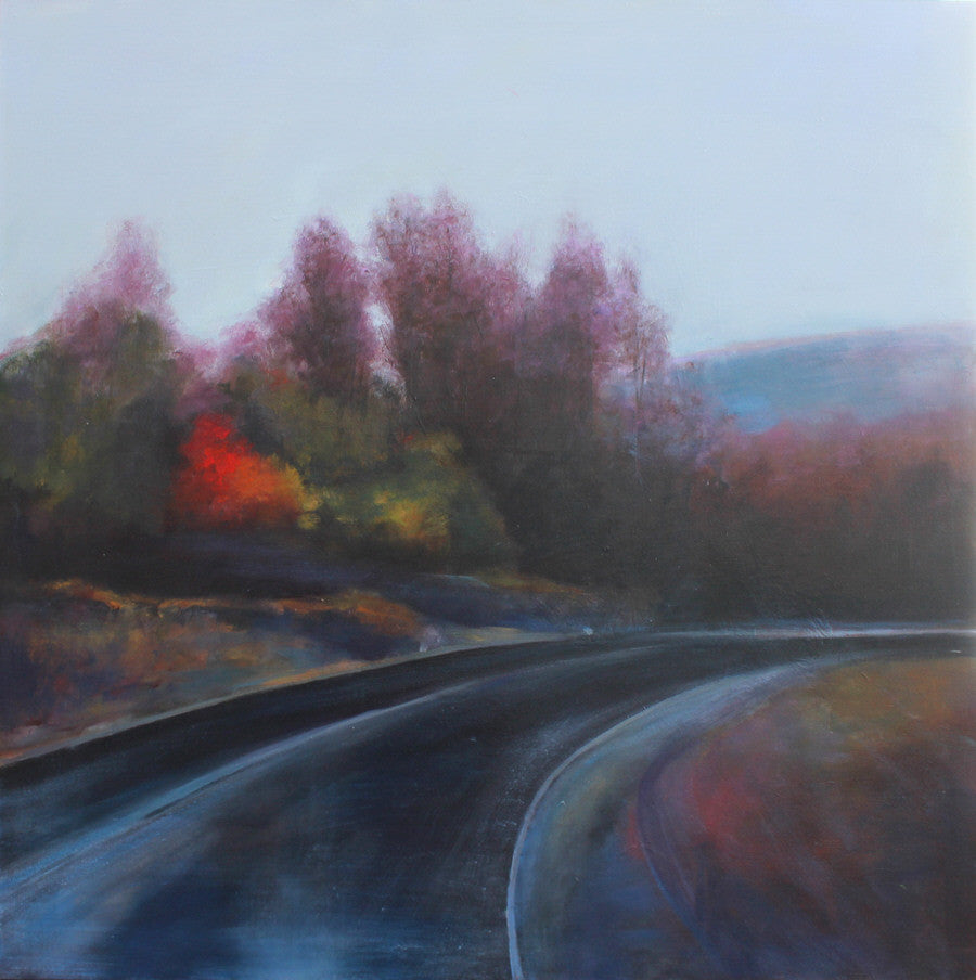 Stuart Slind - Autumn Road, Oil on Canvas, Unframed,  - Bau-Xi Gallery