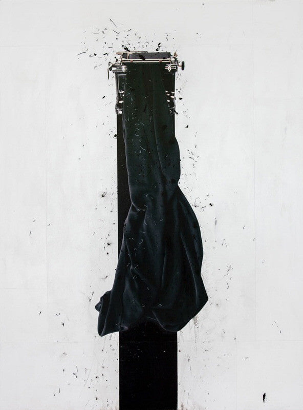 Andre Petterson - Sling, Mixed Media on Panel, Unframed,  - Bau-Xi Gallery