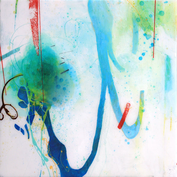 Steven Nederveen - Ocean Swimming, Mixed Media on Panel with Resin, Unframed,  - Bau-Xi Gallery