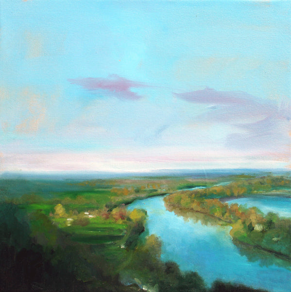 Stuart Slind - The Seine, Oil on Canvas, Unframed,  - Bau-Xi Gallery