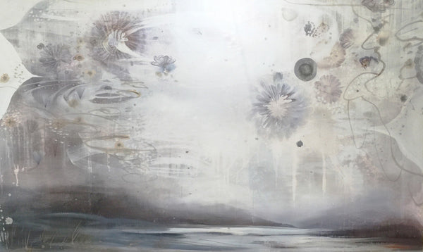 Tracey Tarling - Into the Garden Embrace of Light between the Lines, Mixed Media on Panel, Unframed,  - Bau-Xi Gallery