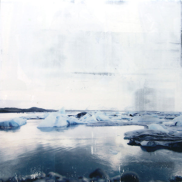 Steven Nederveen - Sea Ice 1, Acrylic on Panel with Resin, Unframed,  - Bau-Xi Gallery