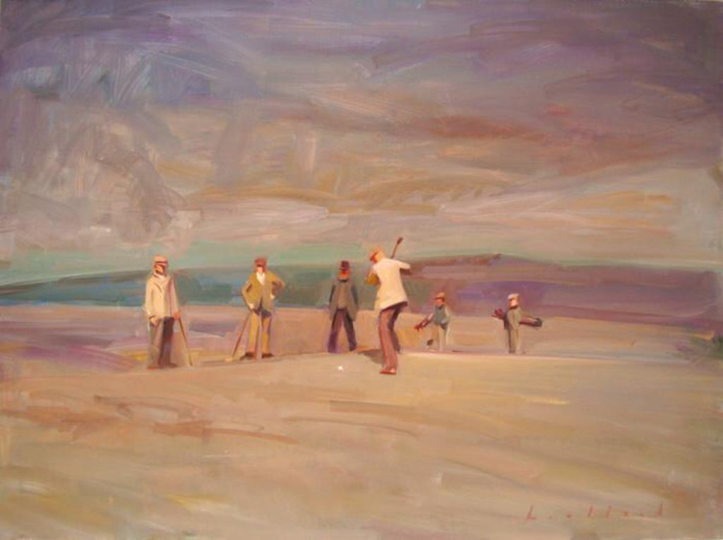 Ken Lochhead - The Boys, Oil on Panel, Framed in Brushed Silver,  - Bau-Xi Gallery