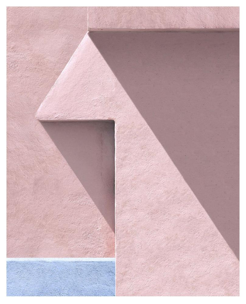 George Byrne - Peach Wall with Purple, Archival Pigment Print on Archival Substrate,  - Bau-Xi Gallery