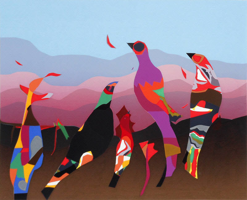 Jack Shadbolt Artwork | Colourful, vibrant, abstract paintings of nature, landscape, and animals.