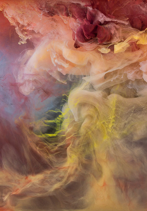 Kim Keever - Abstract 44065 - 2 SIZES, Archival Pigment Print Mounted on Archival Substrate, Framed in White with Plexiglass,  - Bau-Xi Gallery