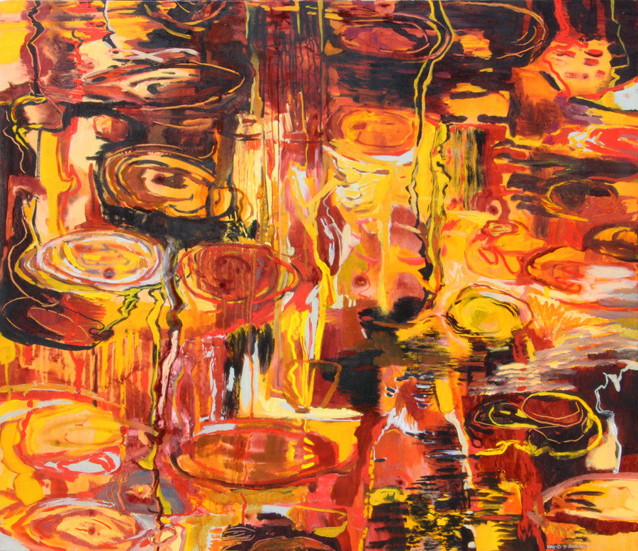 David T. Alexander - Fire Waters, Fired Up, Acrylic on Canvas, Unframed,  - Bau-Xi Gallery