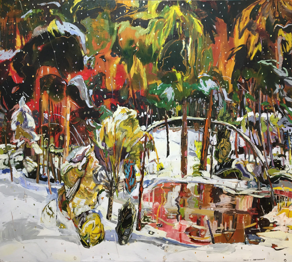 David T. Alexander - Tropic Snow, Acrylic on Canvas, Unframed,  - Bau-Xi Gallery