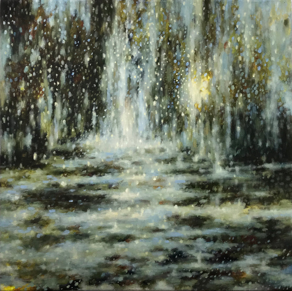 Sheri Bakes - Waterfall, Oil on Canvas, Unframed,  - Bau-Xi Gallery