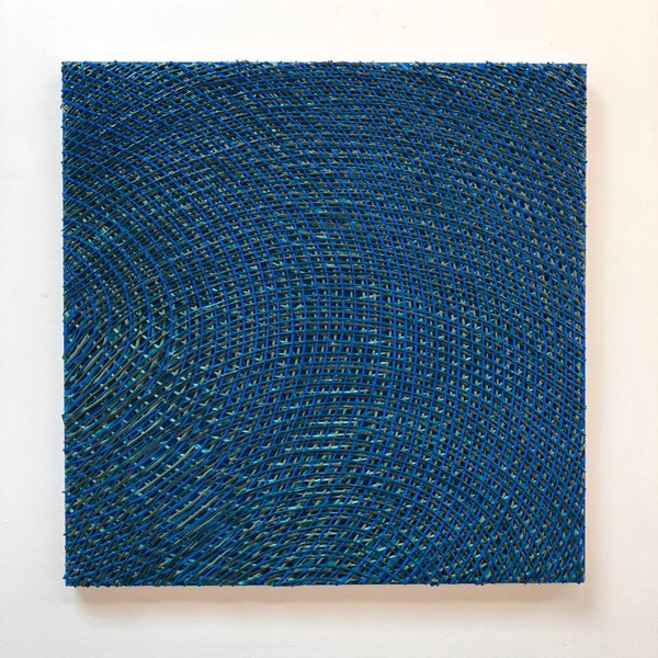 Vicky Christou - Blue Resonance 2, Acrylic on Panel,  - Bau-Xi Gallery