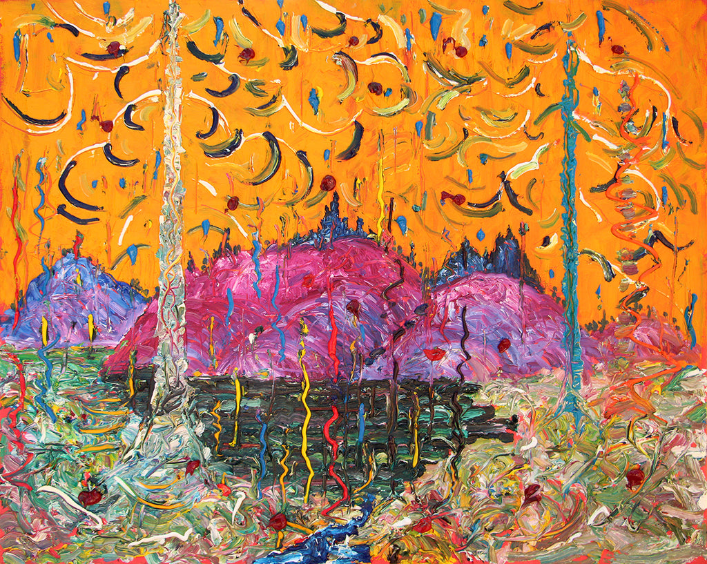 Alex Cameron Artwork | Colourful, textured, sculptural and abstracted landscape paintings.