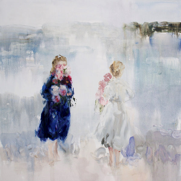 Darlene Cole - Lake (melt into this lake), Oil on Canvas, Unframed,  - Bau-Xi Gallery