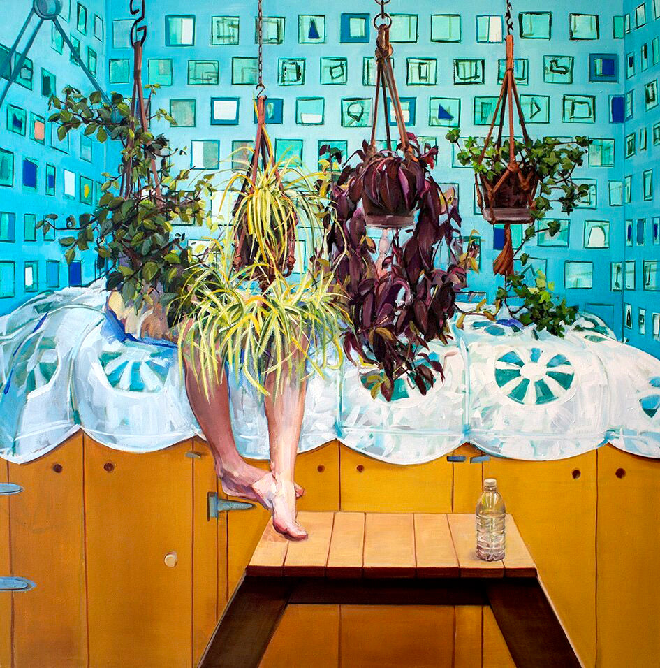 Adrienne Dagg Artwork | Colourful and vibrant contemporary figurative paintings in domestic interiors.