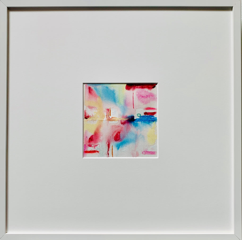 Vicky Christou - Hush 3, Watercolour and Conte on Paper, Framed in White with Glass,  - Bau-Xi Gallery