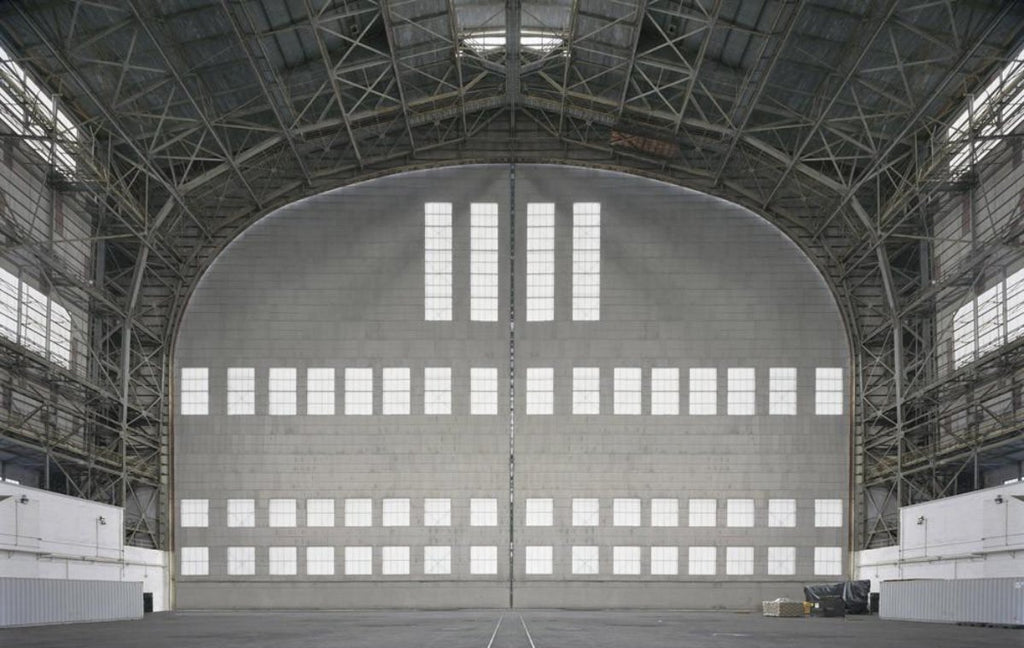 David Leventi - Hangar No. 1, Lakehurst Naval Air Station, Lakehurst, New Jersey, Fujicolor Crystal Archive Print Mounted on Archival Substrate, Framed in White with Plexiglass,  - Bau-Xi Gallery