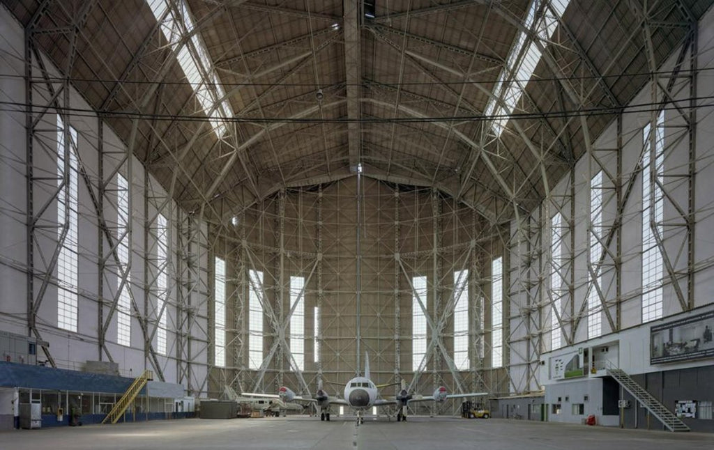 David Leventi - Hangar No. 1, Santa Cruz Air Force Base, Rio de Janeiro, Brazil - 40x60 in., $12,700, Fujicolor Crystal Archive Print Mounted on Archival Substrate, Framed in White with Plexiglass,  - Bau-Xi Gallery