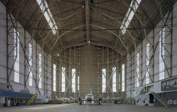 David Leventi - Hangar No. 1, Santa Cruz Air Force Base, Rio de Janeiro, Brazil, Fujicolor Crystal Archive Print Mounted on Archival Substrate, Framed in White with Plexiglass,  - Bau-Xi Gallery