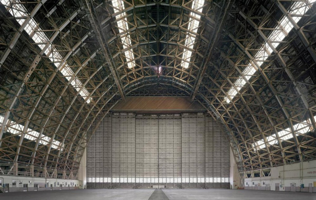 David Leventi - Hangar No. 2, Marine Corps Air Station Tustin, Tustin, California - 40x60 in., $13,650, Fujicolor Crystal Archive Print Mounted on Archival Substrate, Framed in White with Plexiglass,  - Bau-Xi Gallery