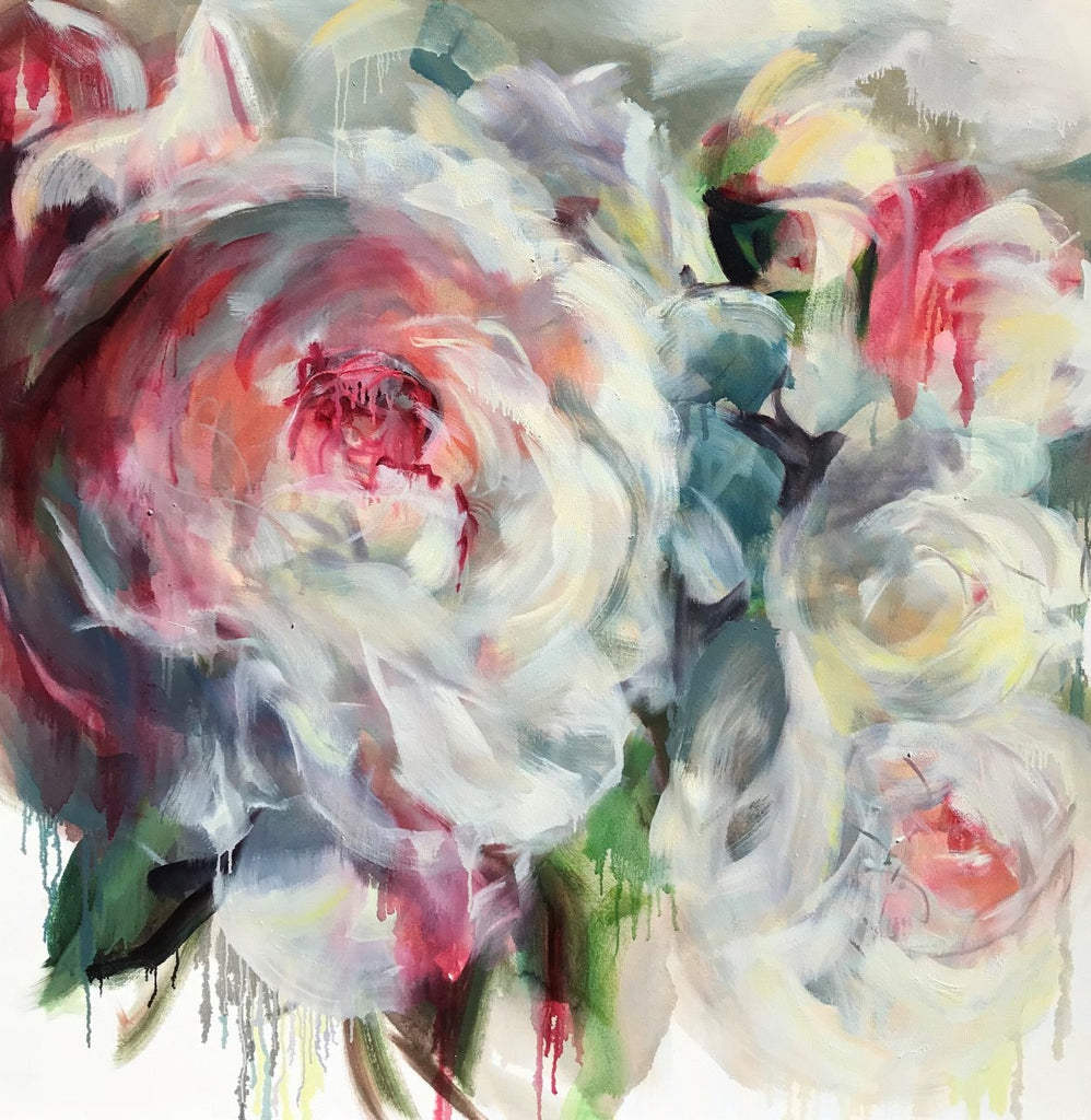 Jamie Evrard - On White 4- Radiance, Oil on Canvas, Unframed,  - Bau-Xi Gallery