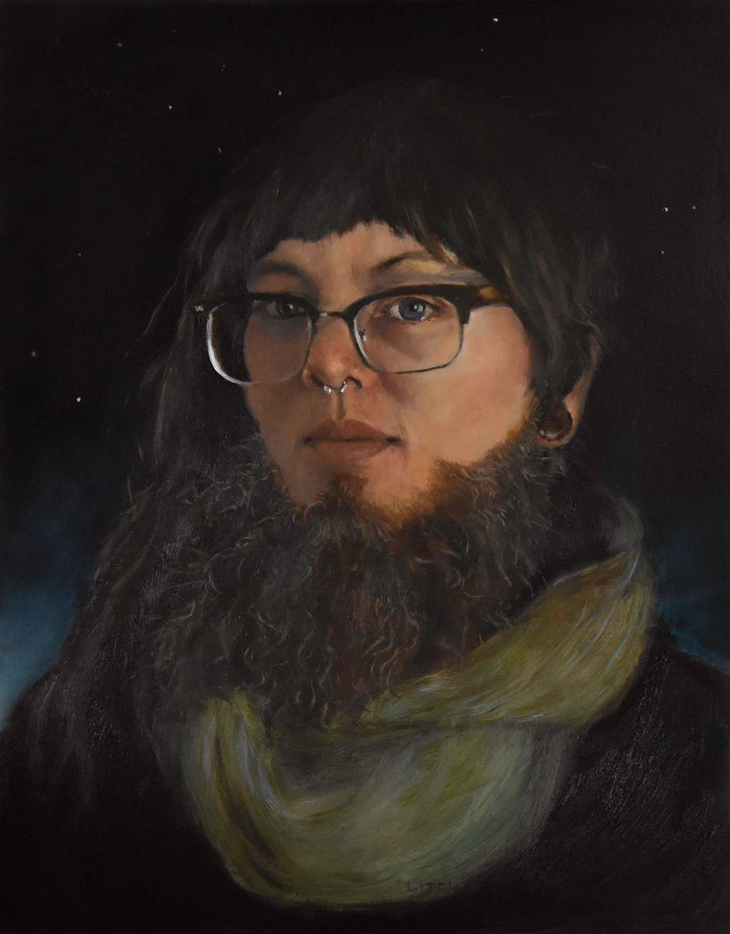 SSNAP 2017 Winners - Jan Little - Jael Suddenly Found Herself With That Beard She'd Long Dreamt Of, Oil on Aluminum Panel,  - Bau-Xi Gallery