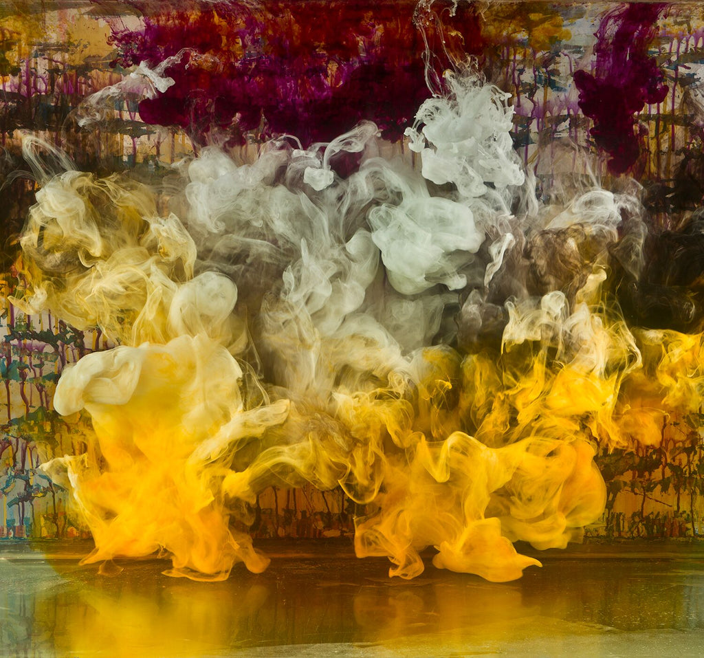 Kim Keever - Abstract 20927b - 2 SIZES, Archival Pigment Print Mounted on Archival Substrate, Framed in White with Plexiglass,  - Bau-Xi Gallery