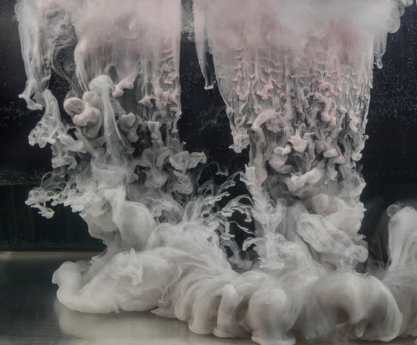Kim Keever Artwork | Soft, colourful, dramatic, abstract photographs of cloud-like swirls of paint in water.