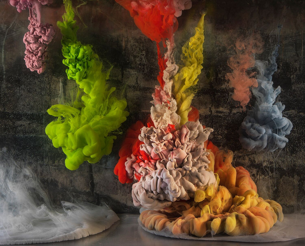 Kim Keever - Abstract 42375b - 2 SIZES, $6,300-$11,800, Archival Pigment Print Mounted on Archival Substrate, Framed in White with Plexiglass,  - Bau-Xi Gallery