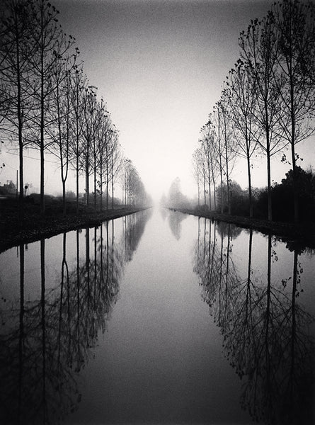 Michael Kenna - French Canal, Study 2, TYBW, Loir-et-Cher, Sepia toned silver gelatin print, framed in grey with museum glass,  - Bau-Xi Gallery