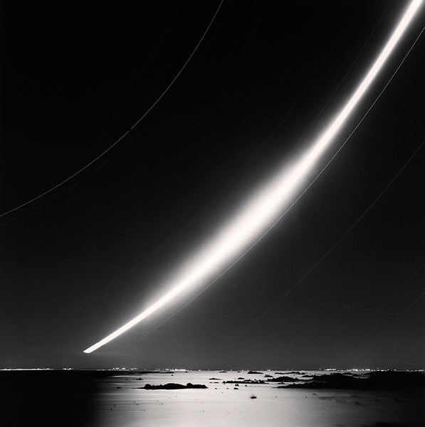 Michael Kenna - Full Moonrise, Chausey Islands, Sepia toned silver gelatin print, framed in grey with museum glass,  - Bau-Xi Gallery