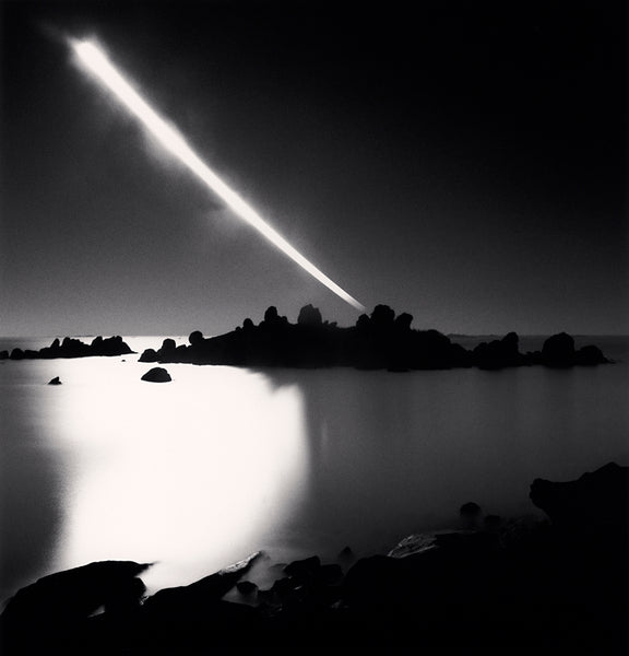 Michael Kenna - Full Moonset, Chausey Islands, Sepia toned silver gelatin print, framed in grey with museum glass,  - Bau-Xi Gallery