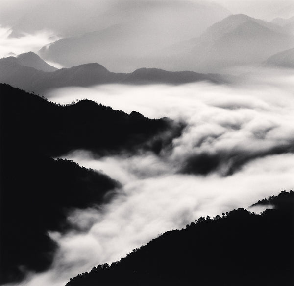 Michael Kenna - Huangshan Mountains, Study 40, Anhui, Sepia toned silver gelatin print, framed in grey with museum glass,  - Bau-Xi Gallery