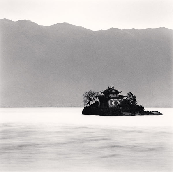 Michael Kenna - Xiao Putuo Island, Erhai Lake, Yunnan, Sepia toned silver gelatin print, framed in grey with museum glass,  - Bau-Xi Gallery
