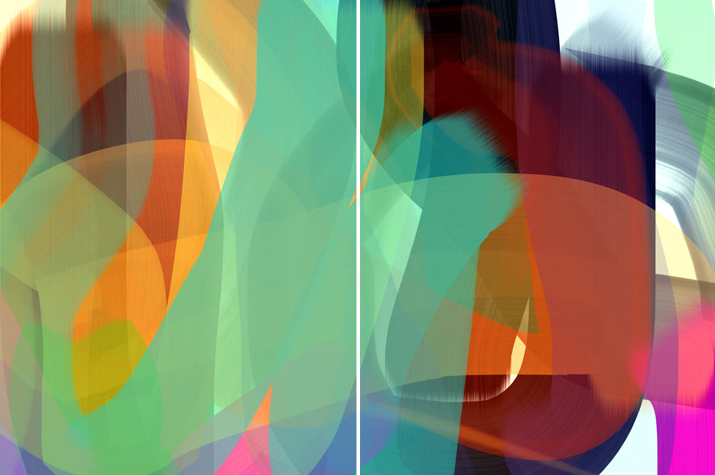 Anda Kubis - Espresso (Diptych), Digital Image on Canvas, Unframed,  - Bau-Xi Gallery