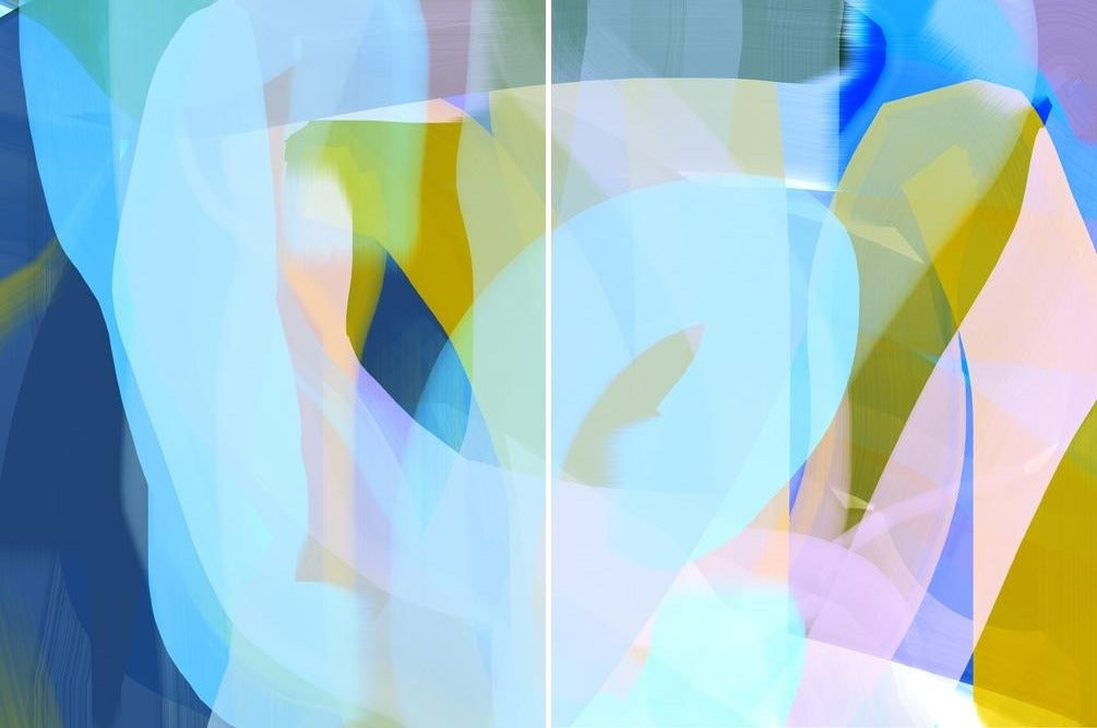 Anda Kubis - Time Lapse (Diptych), Digital Image on Canvas, Unframed,  - Bau-Xi Gallery