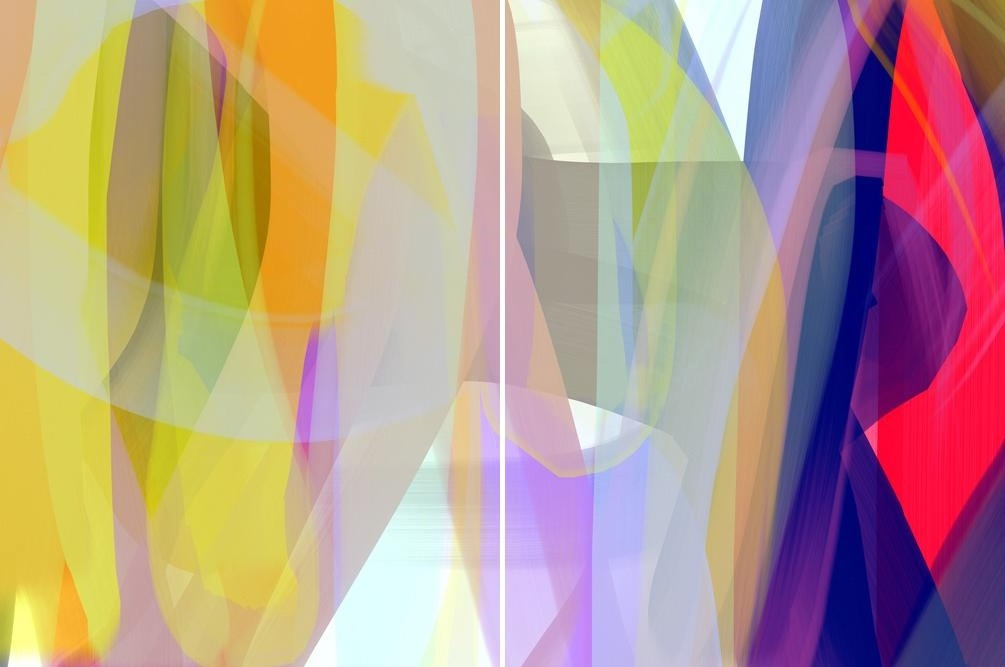 Anda Kubis - Twenty Times (Diptych), Digital Image on Canvas, Unframed,  - Bau-Xi Gallery