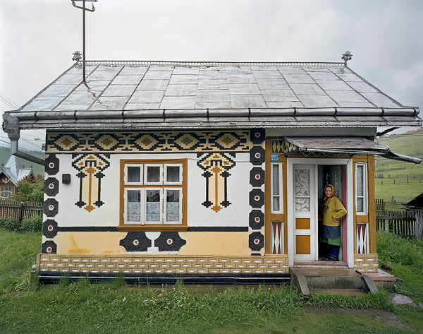 David Leventi - Bucovina House Exterior, Romania - 3 sizes, $11,450-$33,950, Fujicolor Crystal Archive Print Mounted on Archival Substrate, Framed in White with Plexiglass,  - Bau-Xi Gallery