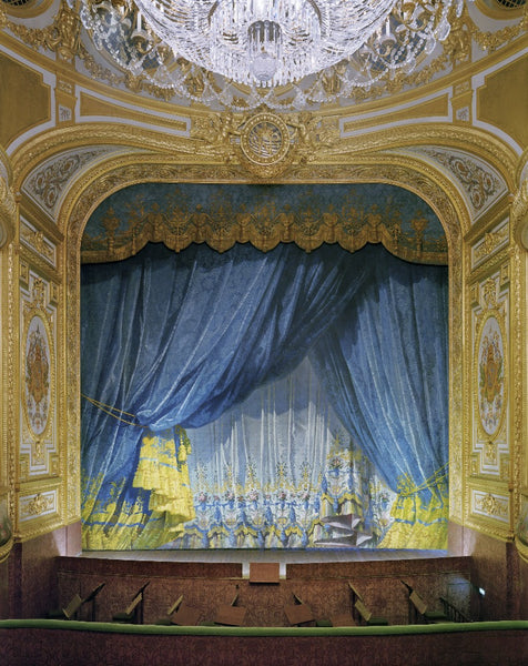David Leventi - Curtain, The Imperial Theatre, Chateau de Fontainebleau, Fontainebleau, France, 2019 - 3 sizes, $11,450-$33,950, Fujicolor Crystal Archive Print Mounted on Archival Substrate, Framed in White with Plexiglass,  - Bau-Xi Gallery