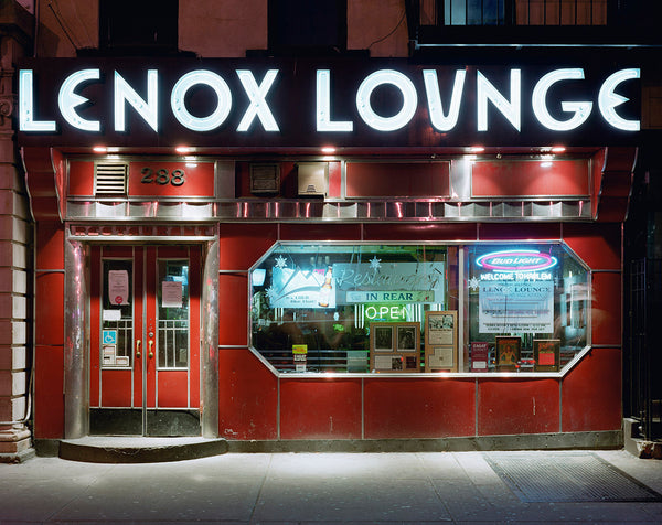 David Leventi - Lenox Lounge, 288 Lenox Avenue, Harlem, New York, Fujicolor Crystal Archive Print Mounted on Archival Substrate, Framed in White with Plexiglass,  - Bau-Xi Gallery