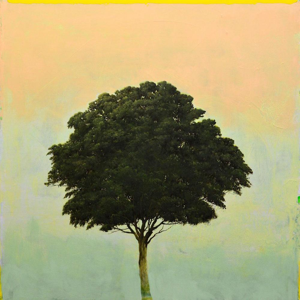 Robert Marchessault - Verde Acendente, Oil on Canvas & Panel, Unframed,  - Bau-Xi Gallery