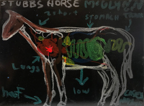 Casey McGlynn - Stubbs Horse, Mixed Media on Canvas, Unframed,  - Bau-Xi Gallery