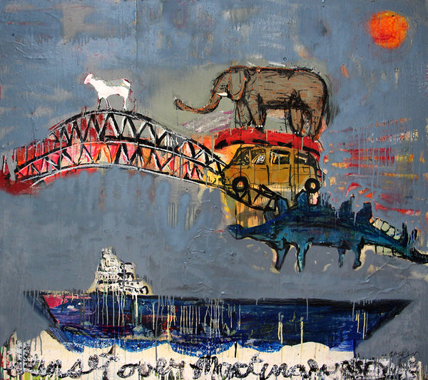 Casey McGlynn - Sunset Over..., Mixed Media on Board, Unframed,  - Bau-Xi Gallery