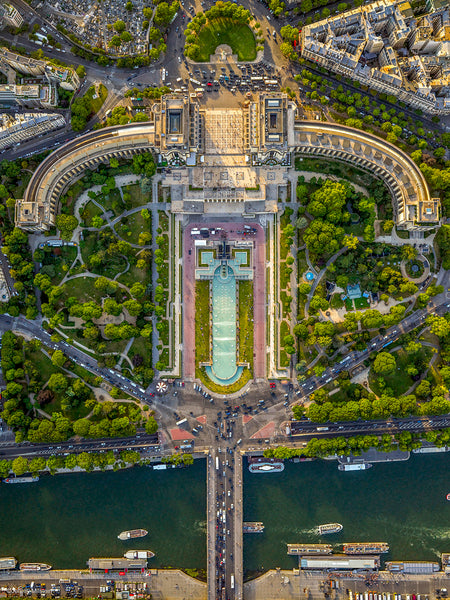 Jeffrey Milstein Artwork | Colourful, dramatic, graphic, and geometric aerial photographs of New York, Paris, London, Versailles, and Los Angeles.