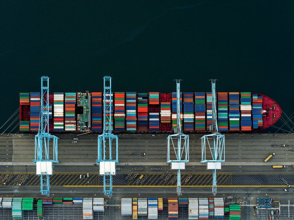 Jeffrey Milstein - Container Port 39 - Available in 6 sizes, Archival Inkjet Print Mounted on Archival Substrate, Framed in White with Plexiglass,  - Bau-Xi Gallery