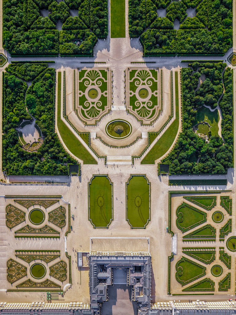 Jeffrey Milstein - Versailles Gardens 1 - Available in 5 sizes, Archival Inkjet Print Mounted on Archival Substrate, Framed in White with Plexiglass,  - Bau-Xi Gallery