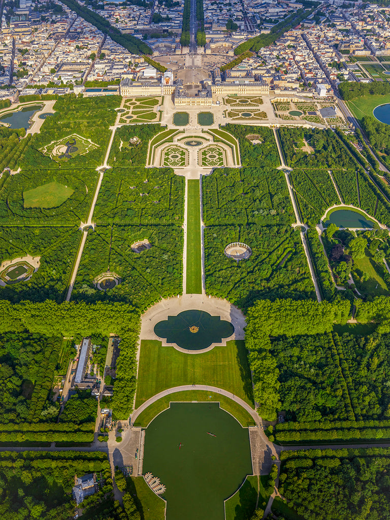 Jeffrey Milstein - Versailles Gardens 2 - Available in 5 sizes, Archival Inkjet Print Mounted on Archival Substrate, Framed in White with Plexiglass,  - Bau-Xi Gallery