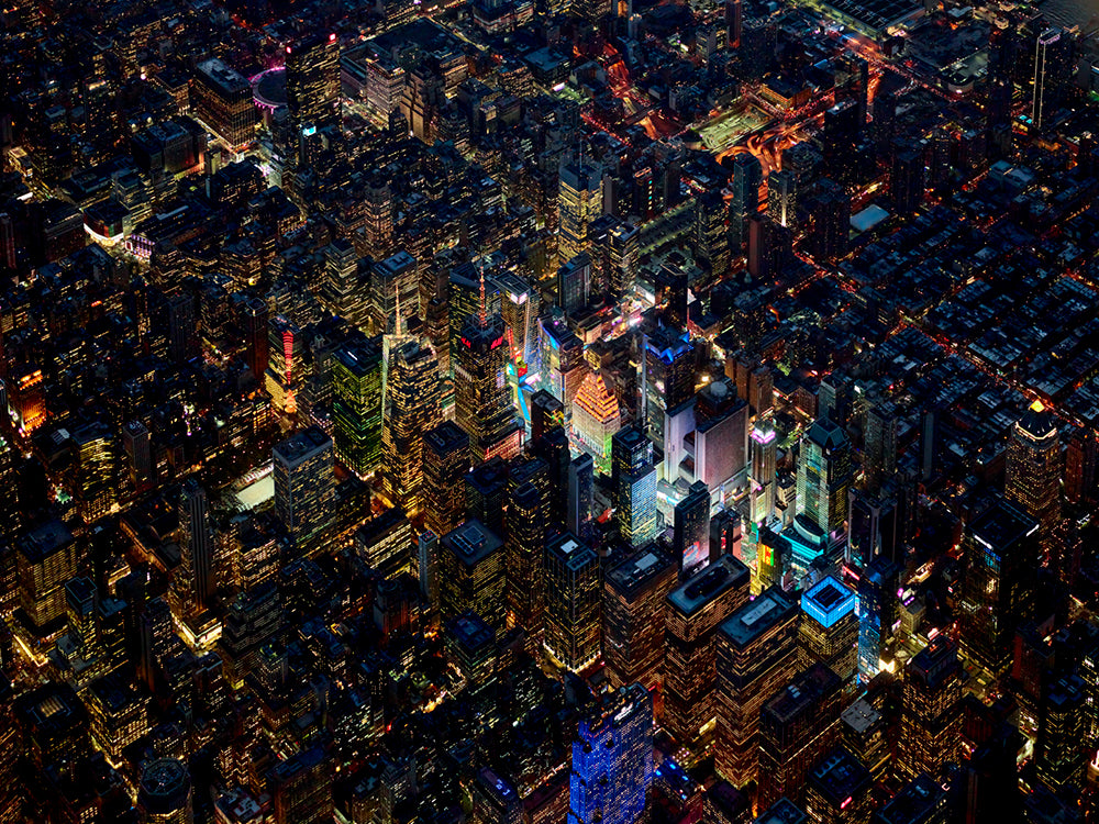Jeffrey Milstein - Times Square Mile High 2 - Available in 5 Sizes, Archival Inkjet Print Mounted on Archival Substrate, Framed in White with Plexiglass,  - Bau-Xi Gallery