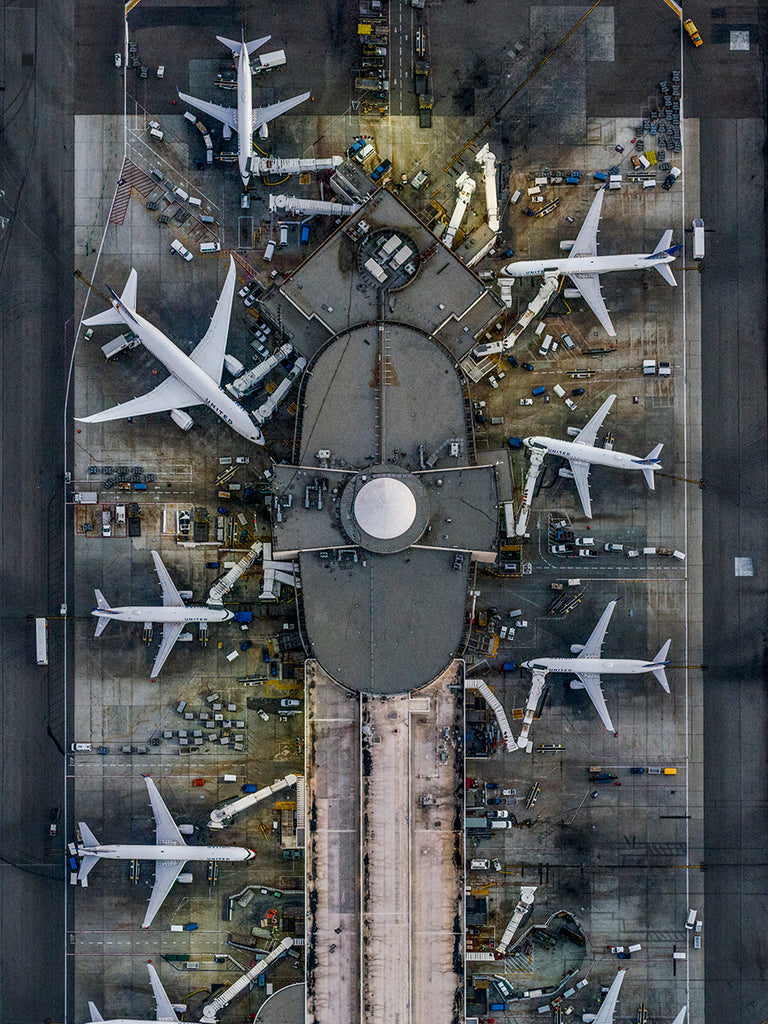 Jeffrey Milstein - LAX - Available in 5 sizes, Archival Inkjet Print Mounted on Archival Substrate, Framed in White with Plexiglass,  - Bau-Xi Gallery