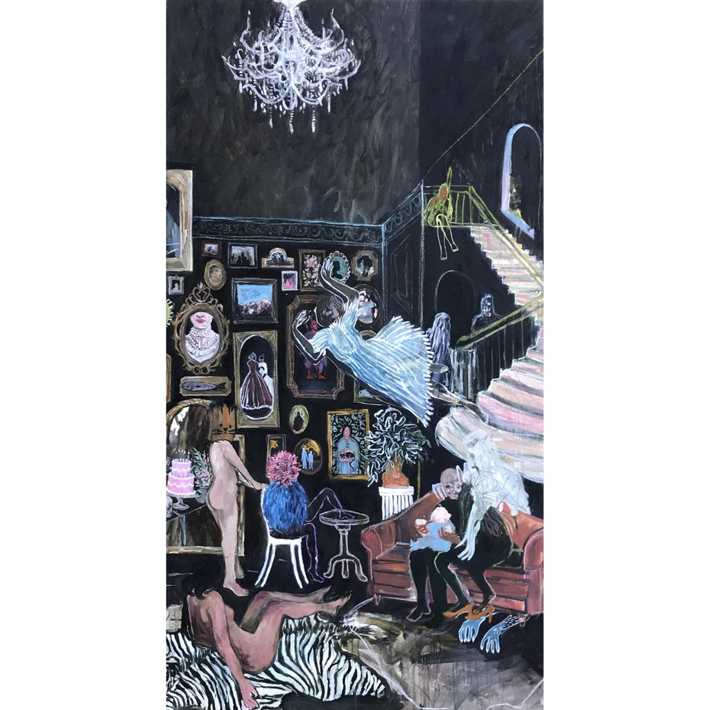 Michelle Nguyen - Parlour Games, Oil and Pastel on Canvas,  - Bau-Xi Gallery